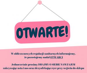 OTWARTE - Sklep Maluszek- COVID-19